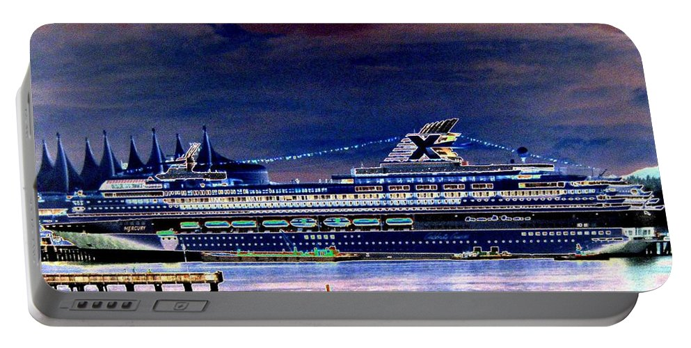 Mercury Portable Battery Charger featuring the digital art Shipshape 5 by Will Borden