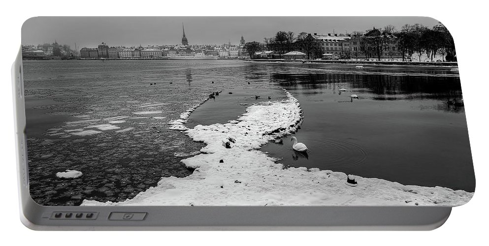 Stockholm Portable Battery Charger featuring the photograph Shipwreck by Mikael Jenei