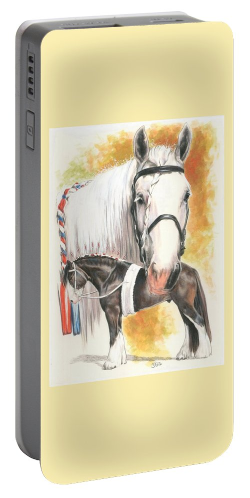 Shire Portable Battery Charger featuring the mixed media Shire by Barbara Keith