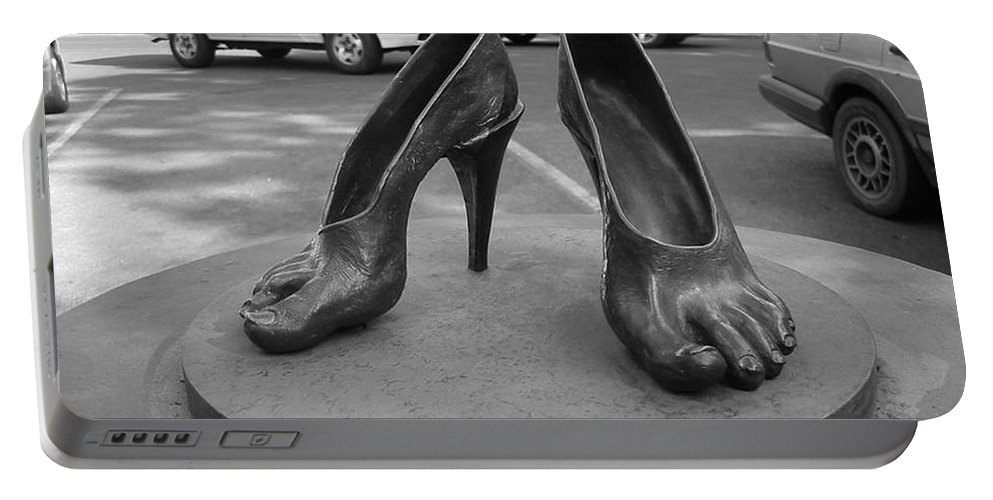 Shoe Sculpture Portable Battery Charger featuring the photograph Shoe Sculpture Grand Junction Co by Tommy Anderson