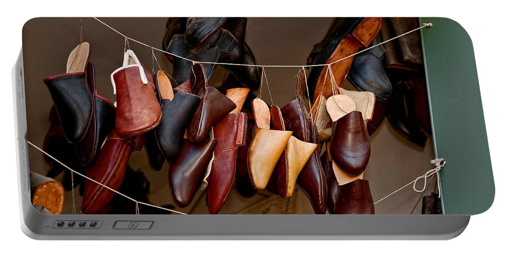 Shoes Portable Battery Charger featuring the photograph Shoes For Sale by Christopher Holmes