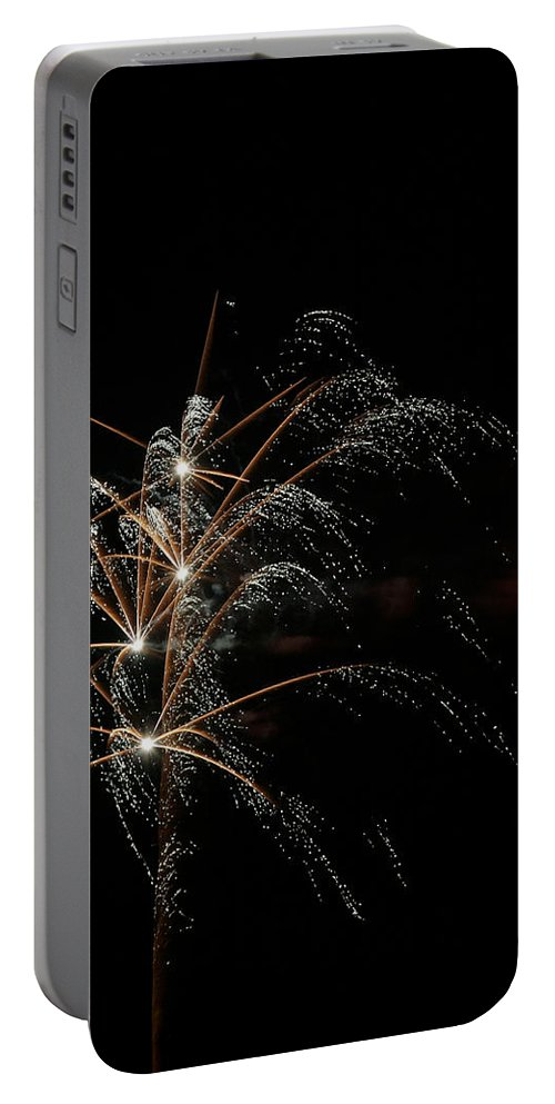 July 4th Portable Battery Charger featuring the photograph Shooting Stars by Phill Doherty