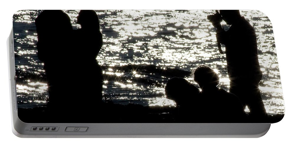 2008 Portable Battery Charger featuring the digital art Shooting Sunset by Amer Khwaja