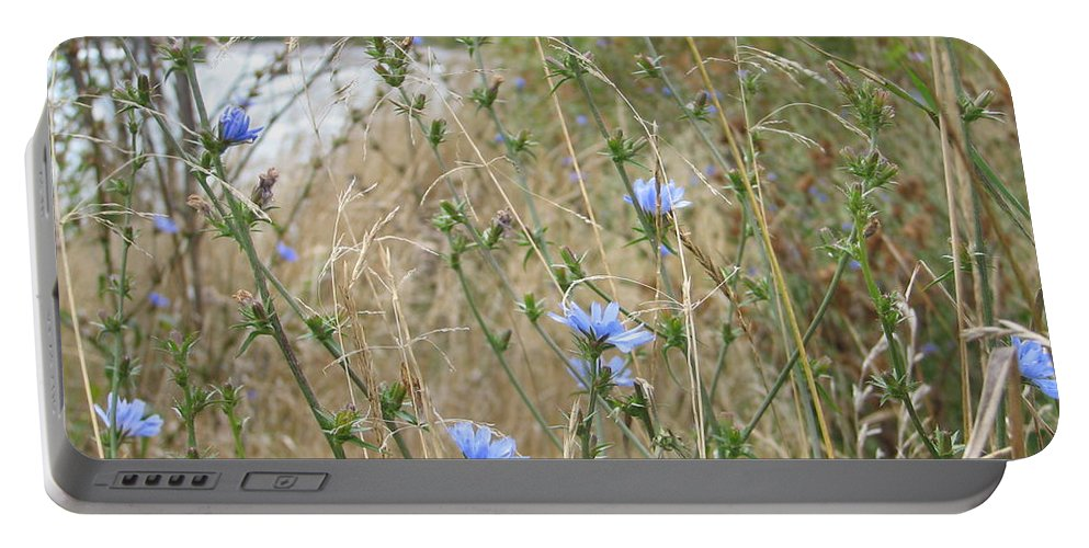 Flower Portable Battery Charger featuring the photograph Shore Flowers by Kelly Mezzapelle