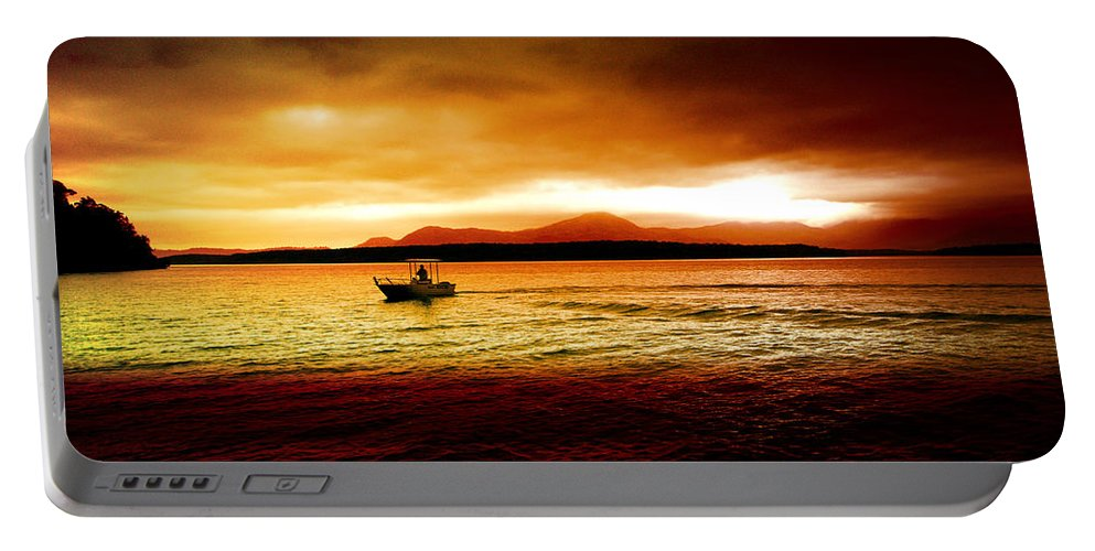 Landscape Portable Battery Charger featuring the photograph Shores Of The Soul by Holly Kempe