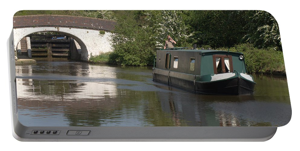 Narrowboat Portable Battery Charger featuring the photograph Shouldnt Drink And Drive by Chris Day