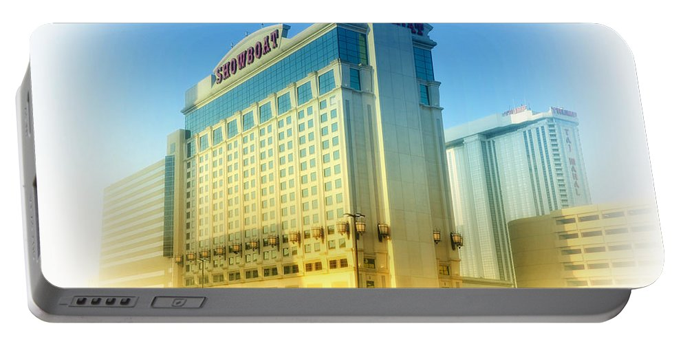 Showboat Portable Battery Charger featuring the photograph Showboat Casino - Atlantic City by Bill Cannon
