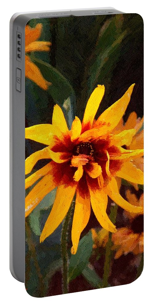 Brown Portable Battery Charger featuring the greeting card Showoff by RC DeWinter
