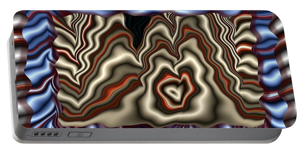 Abstract Portable Battery Charger featuring the digital art Shrouds by Ron Bissett