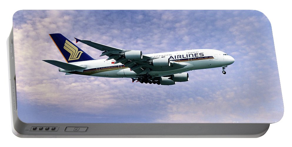 A380 Portable Battery Charger featuring the digital art Sia A380 9v-ska by J Biggadike