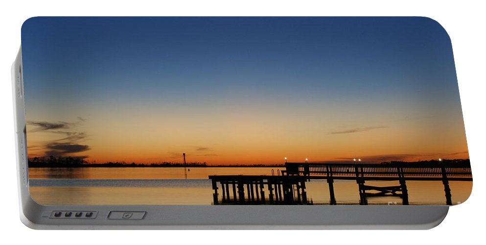 Sound Portable Battery Charger featuring the photograph Calmer Waters by Jennifer Diaz