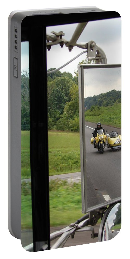 Truck Portable Battery Charger featuring the photograph Side Car Framed by J R  Seymour