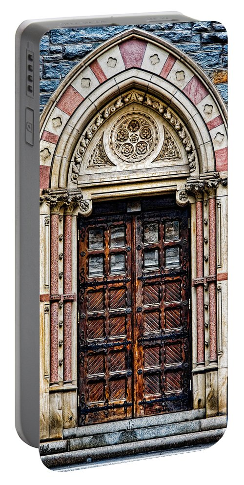 Church Portable Battery Charger featuring the photograph Side Entrance by Christopher Holmes