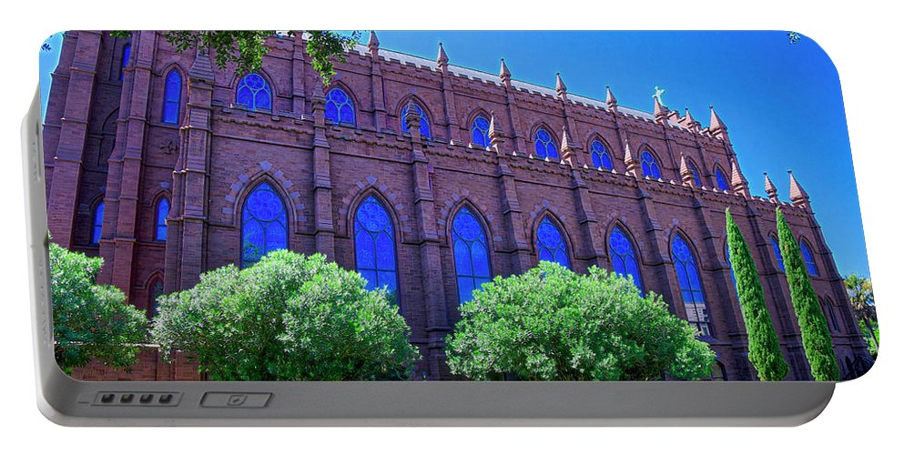 Side Portable Battery Charger featuring the photograph Side Of A Large Church by TJ Baccari