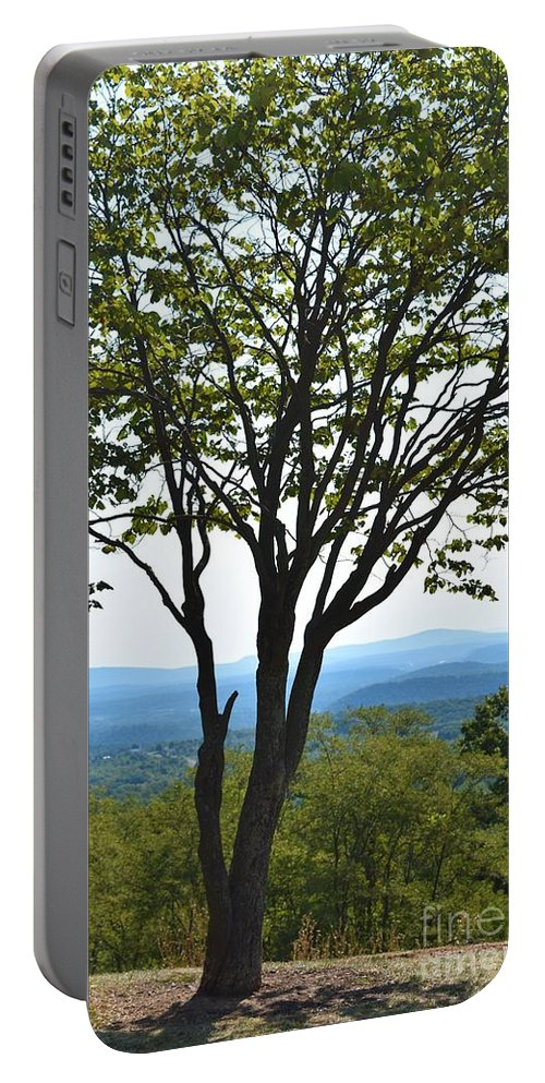 Sideling Hill Portable Battery Charger featuring the photograph Sideling Hill Lookout by Lisa Kleiner