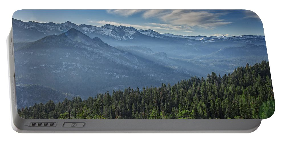 Sierras Portable Battery Charger featuring the photograph Sierra Mist by Rick Berk