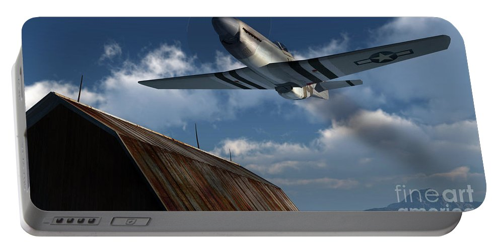 Aviation Portable Battery Charger featuring the digital art Sightseeing by Richard Rizzo