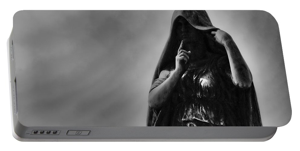 Cemetery Portable Battery Charger featuring the photograph Silent Angel by David Arment