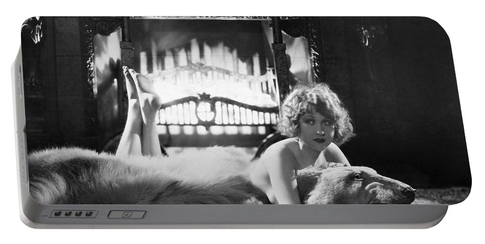-women Single Figures- Portable Battery Charger featuring the photograph Silent Film Still: Woman by Granger