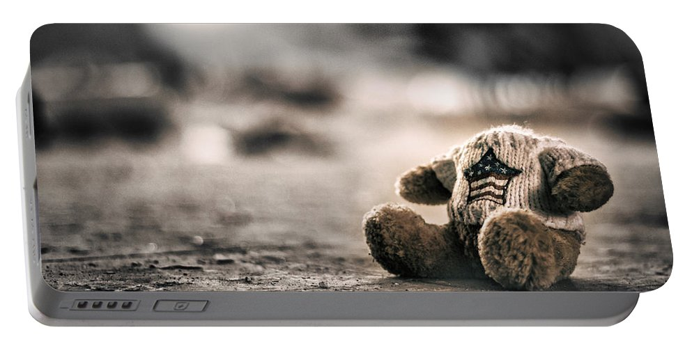 Bear Portable Battery Charger featuring the photograph Silent Games by Scott Wyatt