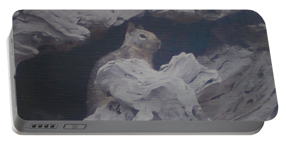 Squirrel Portable Battery Charger featuring the photograph Silent Observer by Pharris Art