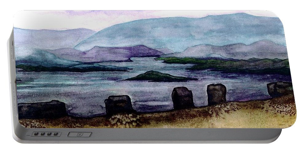Original Painting Portable Battery Charger featuring the painting Silent Sentinels by Patricia Griffin Brett