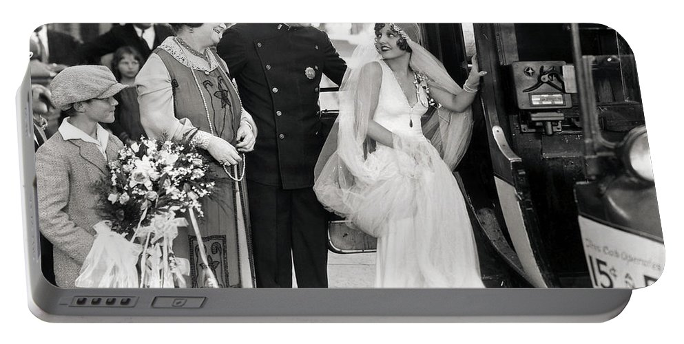 -weddings & Gowns- Portable Battery Charger featuring the photograph Silent Still: Do Your Duty by Granger