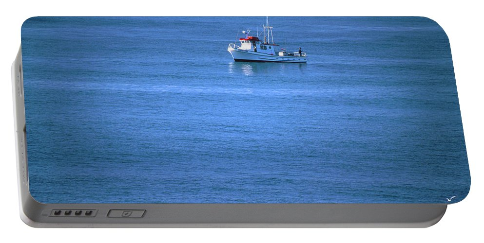 Boat Portable Battery Charger featuring the photograph Silent Story by Soli Deo Gloria Wilderness And Wildlife Photography