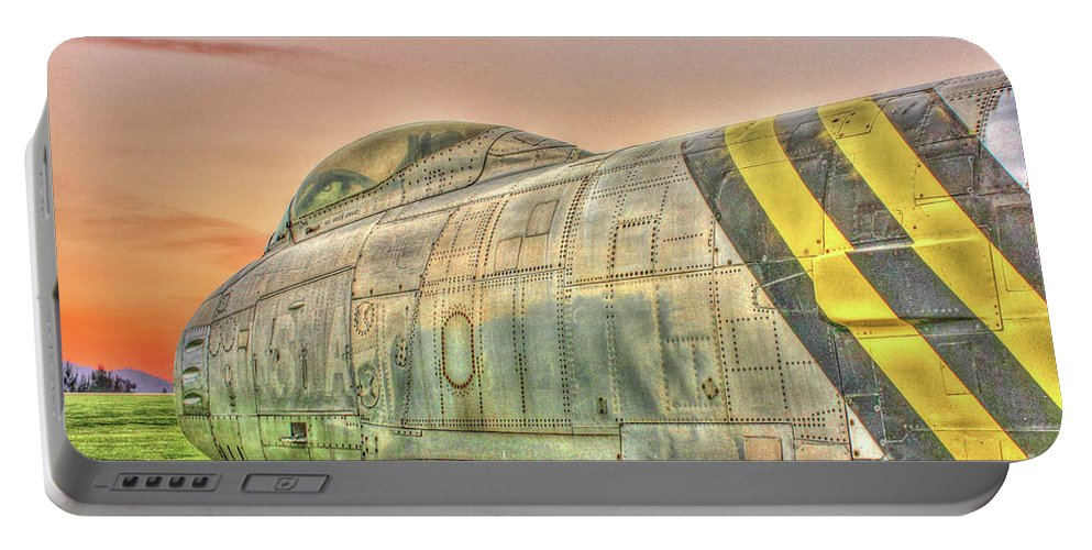 North American F-86 Sabre Portable Battery Charger featuring the photograph Silent Warrior by Tommy Anderson