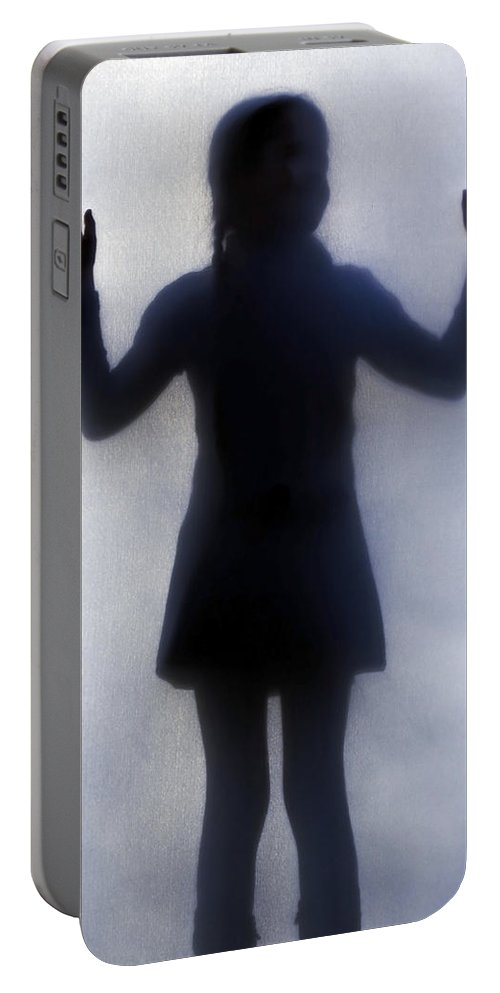 Silhouette Portable Battery Charger featuring the photograph Silhouette Of A Girl by Joana Kruse