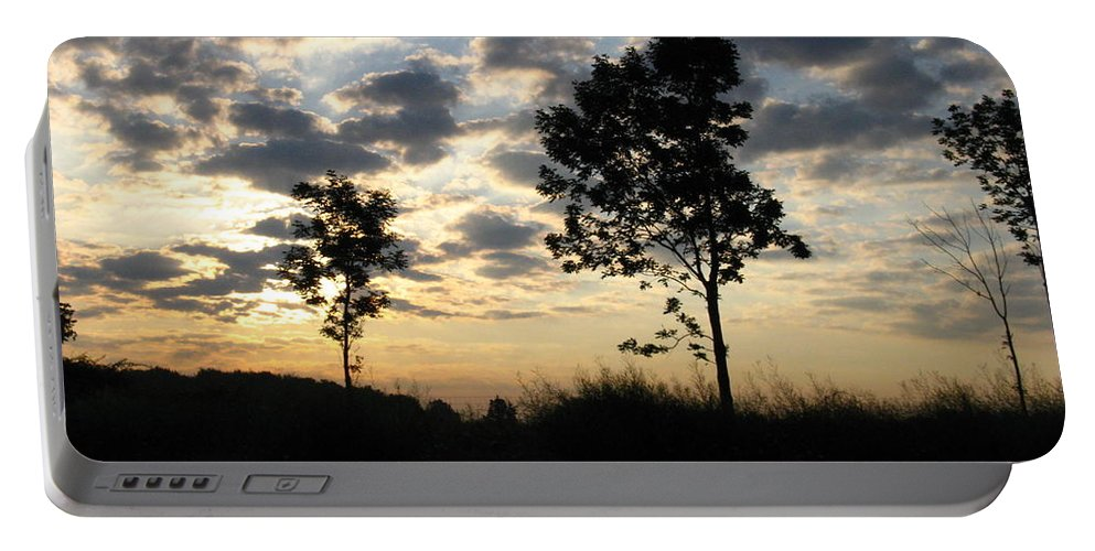 Landscape Portable Battery Charger featuring the photograph Silhouette by Rhonda Barrett