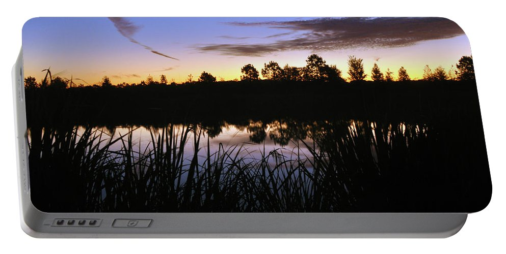 Nature Portable Battery Charger featuring the photograph Silhouettes Of Sunrise by Kay Lovingood