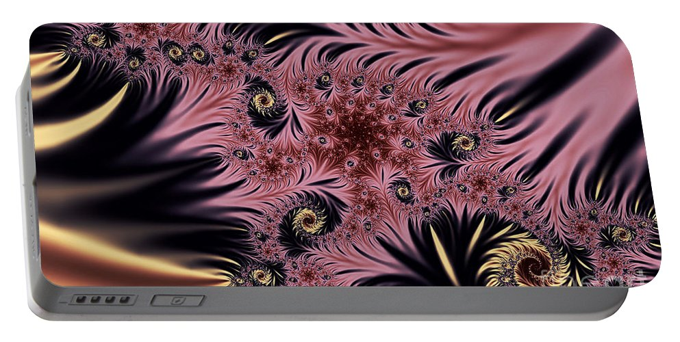 Clay Portable Battery Charger featuring the digital art Silken Pleasures by Clayton Bruster
