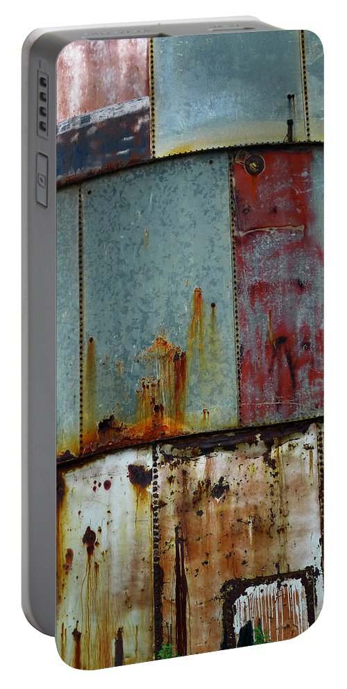 Skip Hunt Portable Battery Charger featuring the photograph Silo Series 1 by Skip Hunt