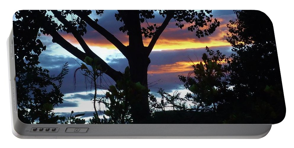 Trees Portable Battery Charger featuring the photograph Silohuettes Of Trees by Lois  Rivera