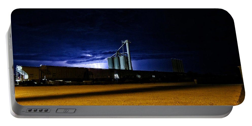 Train Portable Battery Charger featuring the photograph Silorail by Joey Ramirez