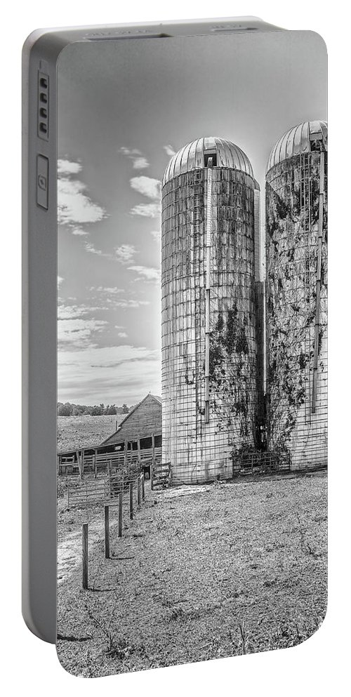 Silo Portable Battery Charger featuring the photograph Silos by Keith Bowen