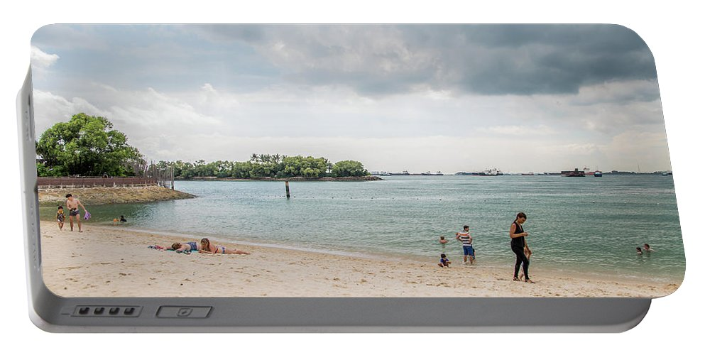 Siloso Portable Battery Charger featuring the photograph Siloso Beach by David Rolt