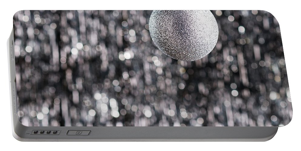 Advent Portable Battery Charger featuring the photograph Silver Christmas by U Schade
