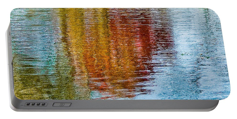 Silver Portable Battery Charger featuring the photograph Silver Lake Autumn Reflections by Michael Bessler