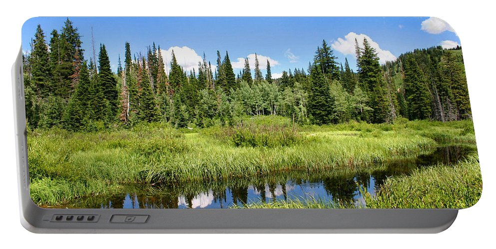 Silver Lake Portable Battery Charger featuring the photograph Silver Lake by Kristin Elmquist