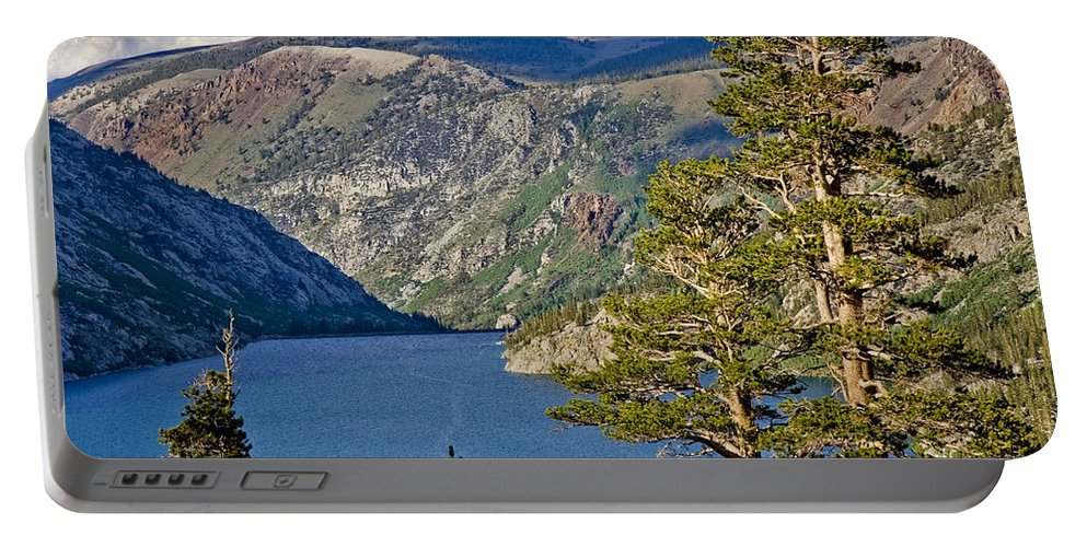Silver Lake Pines Portable Battery Charger featuring the photograph Silver Lake Pines by Chris Brannen