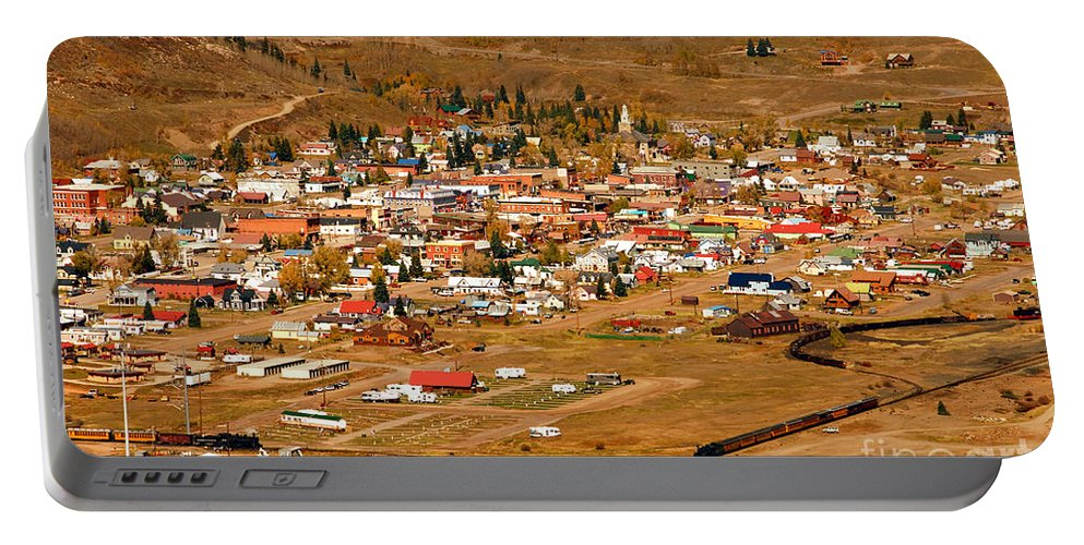 Silverton Colorado Portable Battery Charger featuring the photograph Silverton by David Lee Thompson