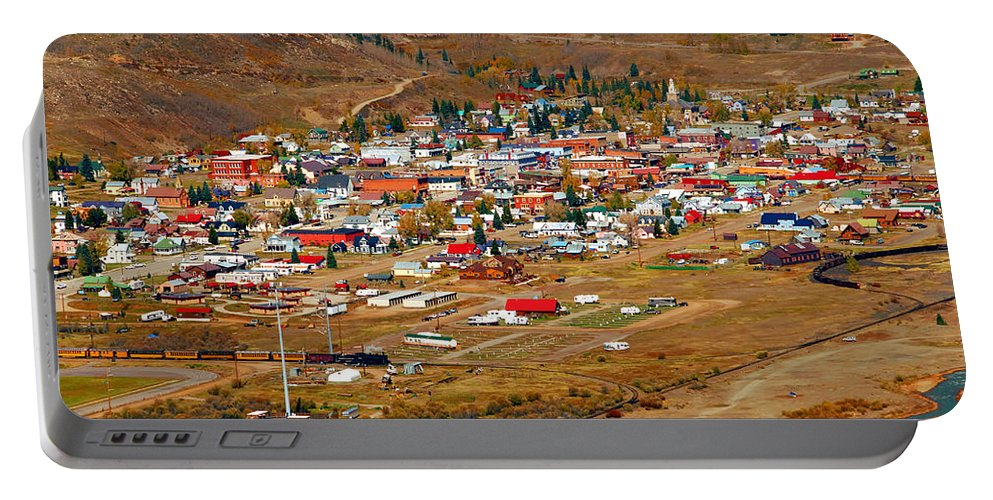 Silverton Colorado Portable Battery Charger featuring the photograph Silverton Town Site by David Lee Thompson