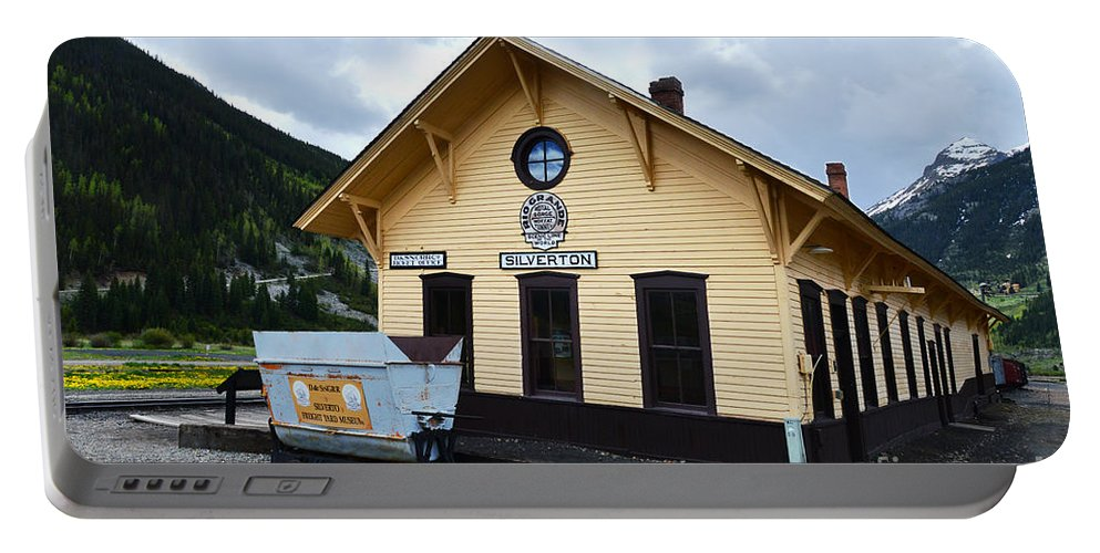 Silverton Portable Battery Charger featuring the photograph Silverton Train Depot by Catherine Sherman