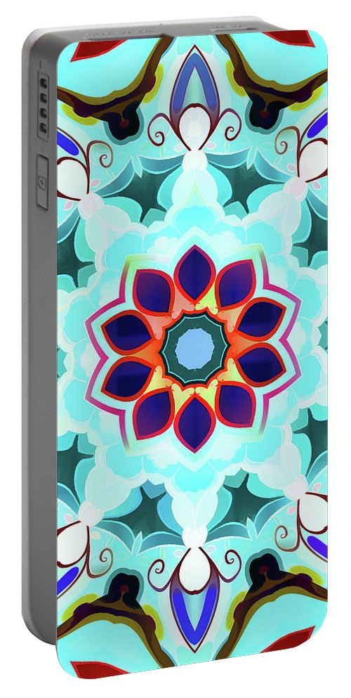 Mandala Art Portable Battery Charger featuring the painting Simple by Jeelan Clark
