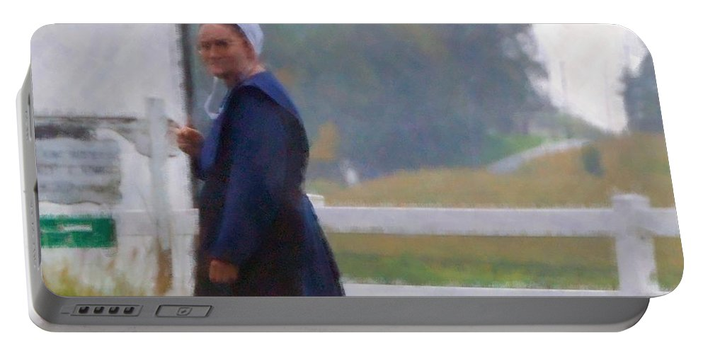 Amish Portable Battery Charger featuring the photograph Simple Living by Debbi Granruth