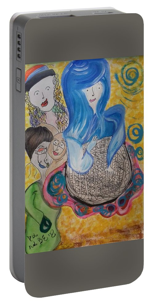 Believe Portable Battery Charger featuring the painting Simplesmente Assim by Darabem Artist