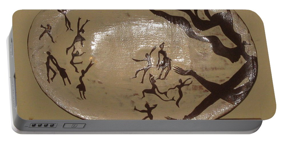 Jesus Portable Battery Charger featuring the ceramic art Simply Dance by Gloria Ssali
