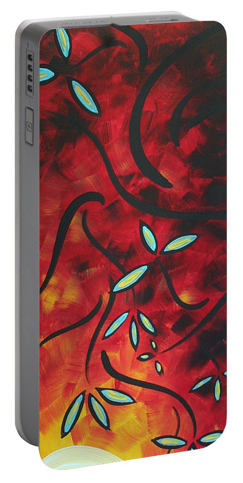 Wall Portable Battery Charger featuring the painting Simply Glorious 1 By Madart by Megan Duncanson